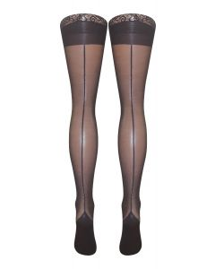 Stiletto Heel Lace Top Hold Ups